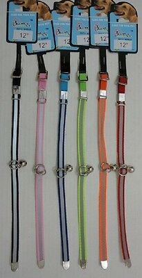 """12 BRAND NEW 12"""" REFLECTIVE DOG / CAT COLLARS W/ BELL,WHOLESALE, FREE SHIPPING !"""