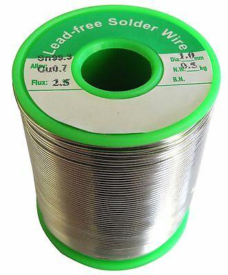 1mm Lead Free Solder Wire 0.5KG Rosin Core Flux Soldering  500 grams 1.0mm