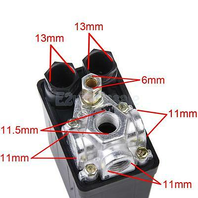 Black Air Compressor Pressure Switch Control Valve 240V 175PSI 12 Bar 16A