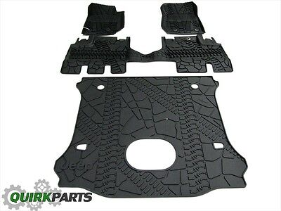 15-16 Jeep Wrangler Unlimited Slush Mats & Cargo Area Mat Subwoofer Cutout MOPAR
