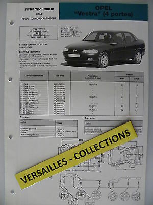 Fiche technique automobile carrosserie OPEL Vectra 4 portes
