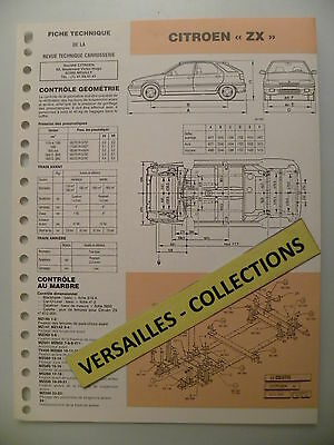 Fiche technique automobile carrosserie CITROEN ZX
