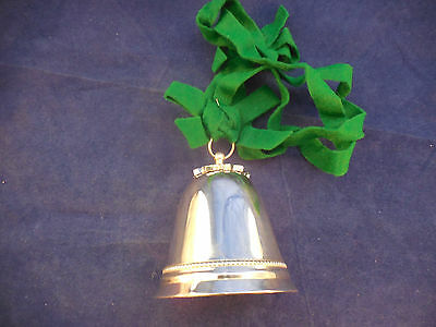 """Wallace Silver Holly Bell 3 1/4"""""""