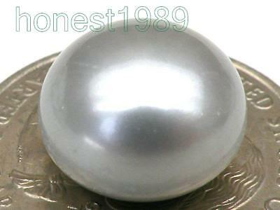 Genuine Excellent 13mm AAA+++ Silver Gray Loose Half Drilled Bread pearl