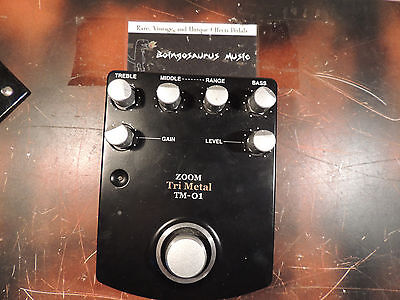 RARE ZOOM TRI METAL TM-01 HIGH GAIN DISTORTION  EFFECTS PEDAL FREE SHIPPING