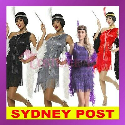 1920s Roaring 20s Charleston Gangster Flapper Gatsby Fancy Dress Costume Outfit