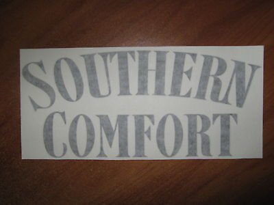 SOUTHERN COMFORT - VINYL STICKER - IN BLACK - NEW