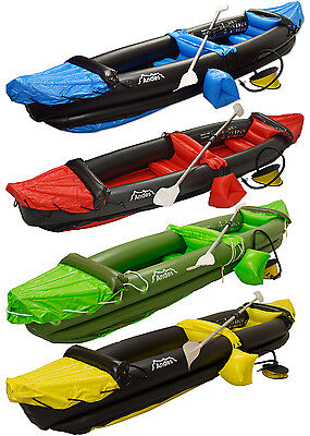 Inflatable Kayak Blow Up Two Person Canoe With Paddle Water Sports