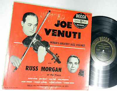 "JOE VENUTI with RUSS MORGAN at the piano DECCA 10"" LP DL 5273"