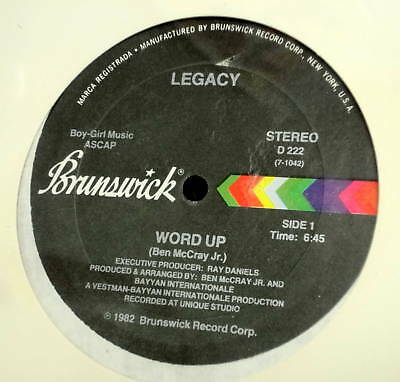 "LEGACY Word Up SEALED 12"" Boogie Funk Disco masterpiece"
