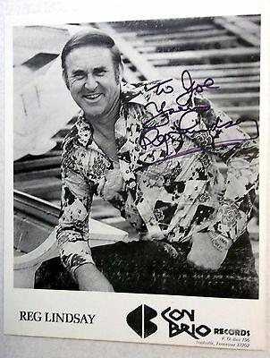 Reg Lindsay AUTOGRAPHED 8 x 10 Promo Pic COUNTRY Western Singer SONGWRITER