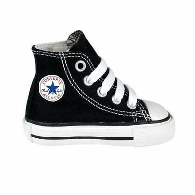 2674b33471b5cd Boy s Girl s Toddler CONVERSE ALL STAR HI TOP Chuck Taylor Black Shoes  7J231 New