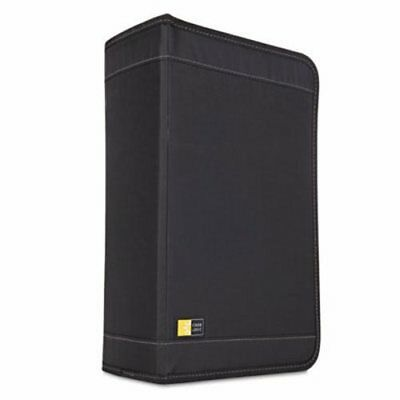 Case Logic CD/DVD Wallet Holds 136 Discs, Nylon, Black (CLGCDW128T)