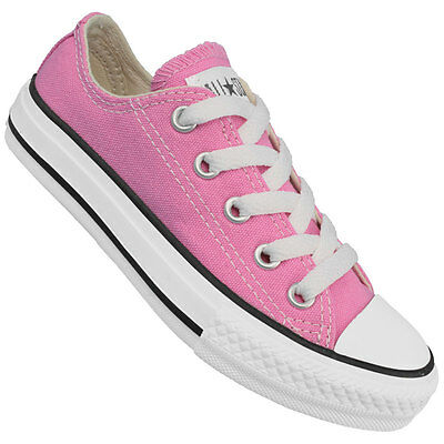 Girl's Youth CONVERSE Pink Canvas 3J238 Chuck Taylor All Star Sneakers Shoes NEW