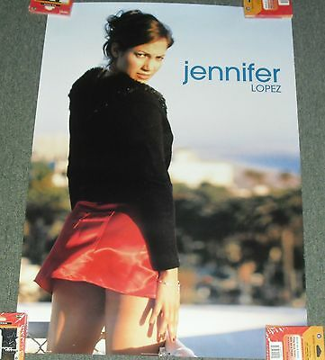 """1999 Poster Jennifer Lopez *must See Mini-Skirt* 24X34"""" Wh23 Great Cond!! M"""