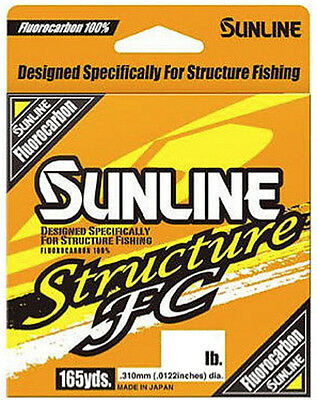 SUNLINE STRUCTURE FC FLUOROCARBON 165 YARDS select lb test