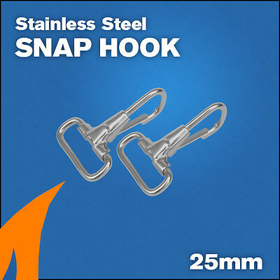 2 x Bimini Snap Hook boat canopy fitting stainless steel 316