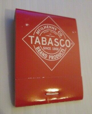 McILHENNY CO TABASCO HOT SAUCE ADVERTISING MATCHES MATCH BOOK FULL UNUSED