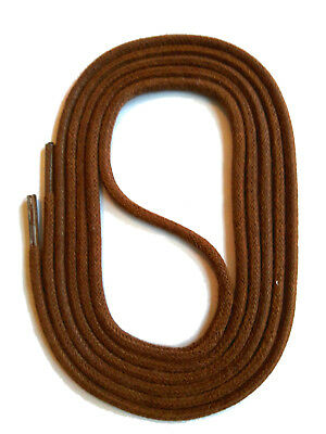 SHOELACES WAXED ROUND LACES - BROWN - 3 Lengths - SNORS shoefriends