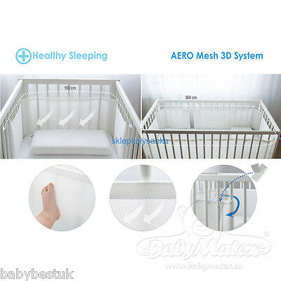 Matex Baby Cot Bumper BumpAir® - Air Circulation - Two Sizes - 360cm & 180cm
