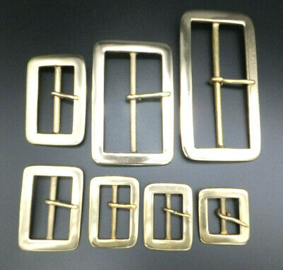 "CAST LIGHTWEIGHT [ 1"" - 4"" ] SOLID BRASS BELT BUCKLE Leathercraft 7 sizes"