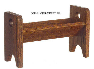 Small Wooden Book Rack for A dolls House. Miniature Furniture 1.12 Scale