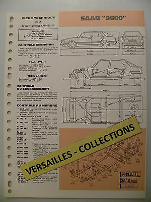 Fiche technique automobile carrosserie SAAB 9000