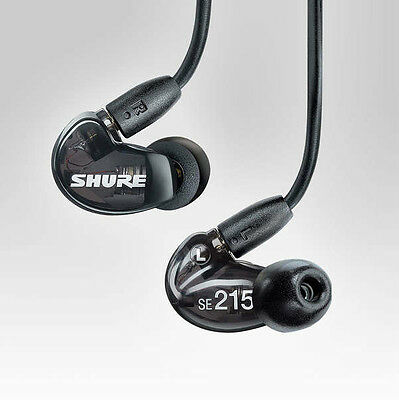 Shure SE215-K Black — Sound Isolating In-Ear DJ Monitoring Headphones/Earphones