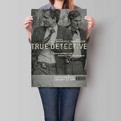 True Detective Poster TV Show Matthew McConaughey Woody Harrelson A2 A3 A4