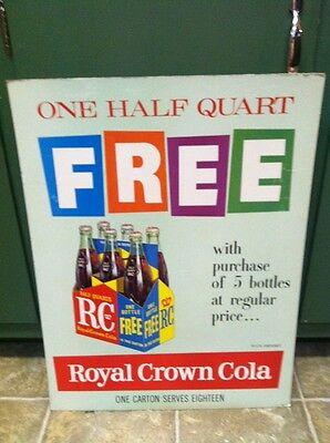 Royal Crown Cola Advertising Sign Not Coca Cola