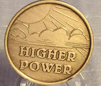 Higher Power Medallion Chip Coin AA NA Bronze Alcoholics Anonymous