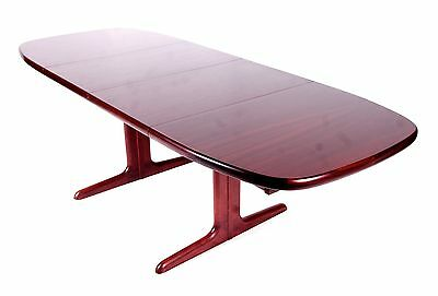 """Retro Danish Rosewood Dining Table by Skovby 7'8"""" Conference Boardroom Table Vin"""