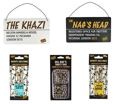 Only Fools And Horses Gifts - Tin Plaques - Keyrings- Car Dice - Brand New