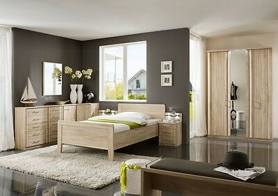 schlafzimmer komplett schrank bett 90x200 cm eiche s gerau tanom eur picclick de. Black Bedroom Furniture Sets. Home Design Ideas