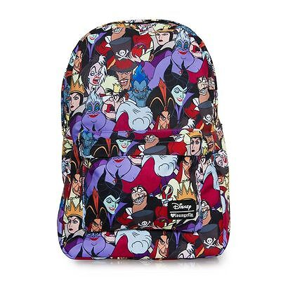 Disney Villains Backpack Loungefly All Over Print Licensed 2017 NEW RELEASE