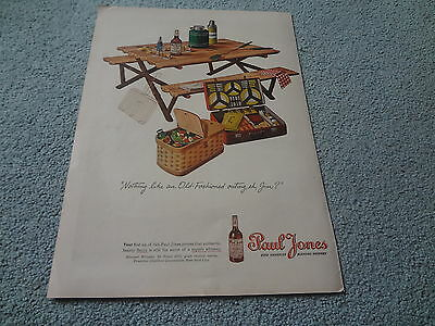 "1945 Paul Jones Whiskey Vintage Magazine Ad ""Nothing like an Old-Fashioned..."""