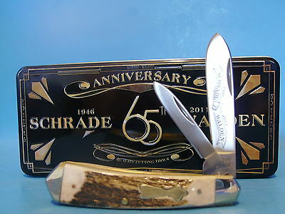 Schrade Pocket knife Genuine Stag Handle Walden 65th Anniversary 1 of 500 made