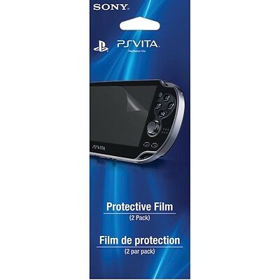 4 x Official Sony PS Vita PSV - Screen Protector Films - Saver Guard - Easy Fit