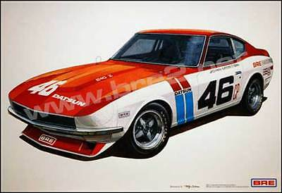 "BRE Datsun 240z Art Print (19""x13"") sold by Peter Brock BRE!"