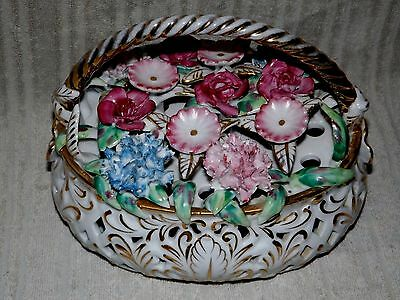 Frog Large Centerpiece Floral Arranger ~ Staffordshire Very Rare !! Beautiful