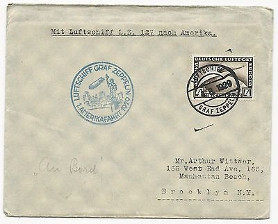Germany Scot #C37 on Luftschiff Graf Zeppelin Cover August 4, 1929 to USA