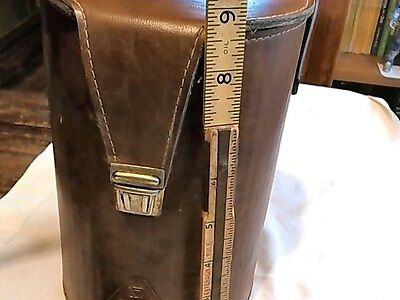 VINTAGE LEATHER DRAGER AIR MASK CARRIER - REPURPOSE FOR ART OFFICE HOME