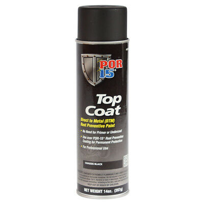 POR 15 45918 Chassis Coat Semi Gloss Black Top Coat - 14oz Aerosol Can - Each