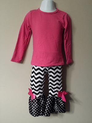 Girls Boutique Persnickety Remake Chevron Ruffle Pants sz. 2T & 3T