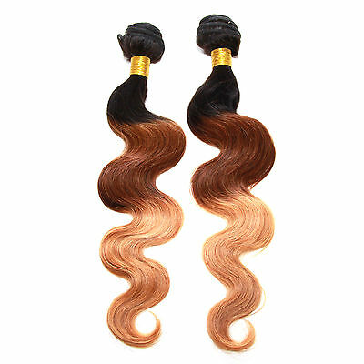 """Low Price 6Bundles Human hair Extensions Full Head 12""""-22"""" 1b/33/27# Ombre Color"""
