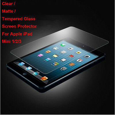 Tempered Glass / Clear / Matte Film Screen Protector For Apple iPad Mini 1/2/3