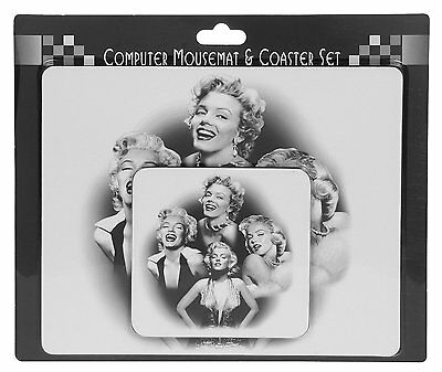 Wholesale Job Lot 12 Mouse mats Pad & Coaster Gift Sets Marilyn Monroe Icons NEW