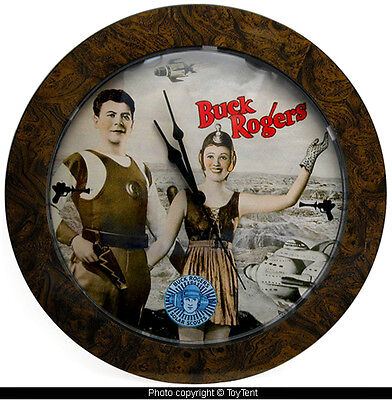 Buck Rogers wall clock with Wilma Deering battery operated