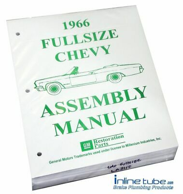 1966 Chevrolet Chevy Bel Air  Factory Assembly Rebuild Instruction Manual Book