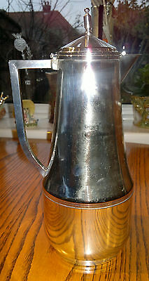 Rare Antique C1909 Thermos Flask-Jug-Silver plated-Film Prop/Window Display